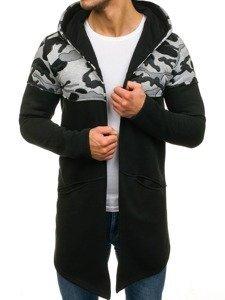 Bluza męska z kapturem czarna Bolf 9117