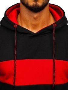 Bluza męska z kapturem czarna Denley 11039