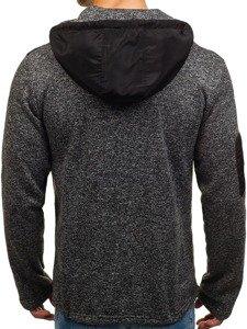 Bluza męska z kapturem czarna Denley 2918