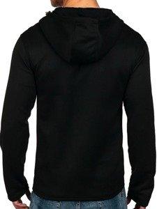 Bluza męska z kapturem czarna Denley 2960