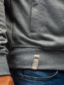 Bluza męska z kapturem grafitowo-szara Denley T955