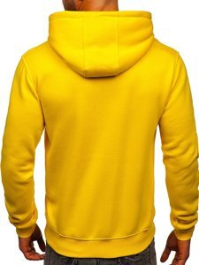 Bluza męska z kapturem jasnożółta kangurka Denley 2009