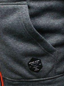 Bluza męska z kapturem moro-grafitowa Denley 3737