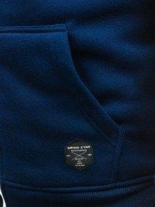 Bluza męska z kapturem moro-granatowa Denley 3737