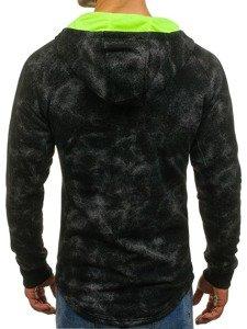 Bluza męska z kapturem rozpinana czarna Denley W1569
