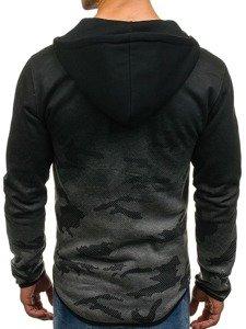 Bluza męska z kapturem rozpinana grafitowa Denley DD84