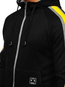 Bluza męska z kapturem rozpinana ze słuchawkami czarna Denley 81052
