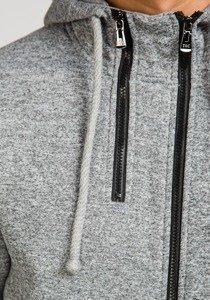 Bluza męska z kapturem szara Denley 1802