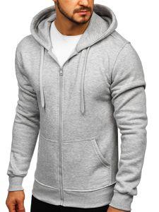 Bluza męska z kapturem szara Denley 2008