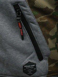 Bluza męska z kapturem szara Denley 3736