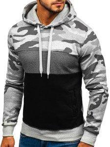 Bluza męska z kapturem szara Denley XHP1002