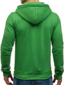 Bluza męska z kapturem zielona Denley 03