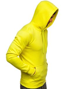 Bluza męska z kapturem żółty-neon kangurka Denley 2009