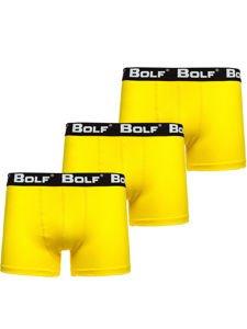 Bokserki męskie żółte Bolf 0953-3P 3 PACK