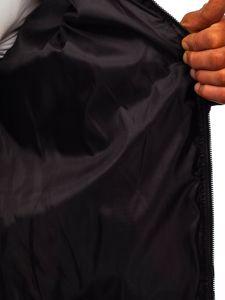 Bordowa przejściowa kurtka męska pikowana bomberka Denley MY-02