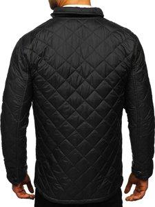 Czarna kurtka męska przejściowa elegancka typu husky Denley 0003