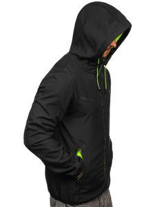 Czarna kurtka męska przejściowa softshell Denley KS2198