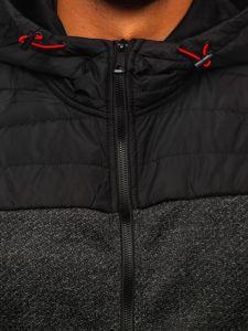 Czarna przejściowa kurtka męska Denley KS2158