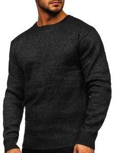 Czarny ocieplany sweter męski Denley 7M117