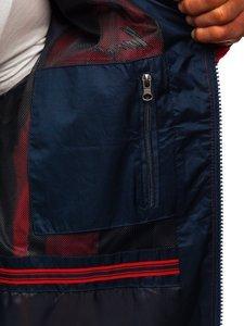 Czerwona kurtka męska przejściowa Denley 743