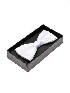 Elegancka mucha męska biała Denley M001