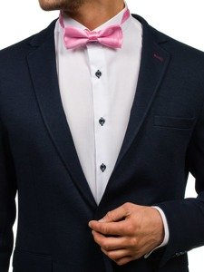 Elegancka mucha męska różowa Denley M001