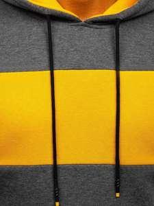 Grafitowa bluza męska z kapturem Denley KS2173