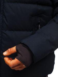 Granatowa pikowana kurtka męska zimowa Denley J1906