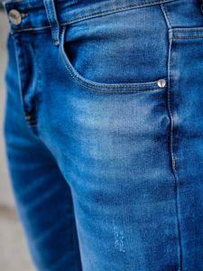 Granatowe spodnie jeansowe męskie skinny fit Denley KX388