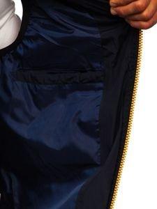 Kamizelka męska z kapturem żółta Denley 5804