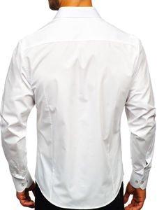 Koszula męska elegancka z długim rękawem biała Bolf 1703