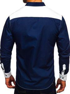 Koszula męska elegancka z długim rękawem biała Bolf 9706