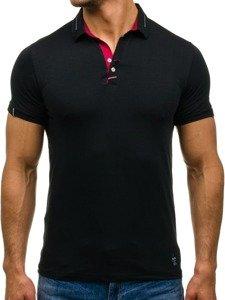 Koszulka polo męska czarna Denley 1058