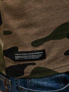 Koszulka polo męska moro-zielona Denley 1126