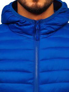 Kurtka męska przejściowa pikowana niebieska Denley LY35