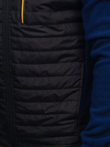 Kurtka męska przejściowa polar granatowa Denley YL010