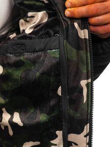 Kurtka męska przejściowa sportowa pikowana czarna Denley 50A462