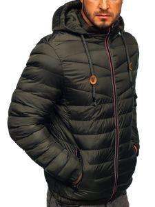 Kurtka męska przejściowa sportowa pikowana khaki Denley 50A160