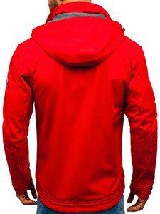 Kurtka męska softshell  czerwona Denley 004a