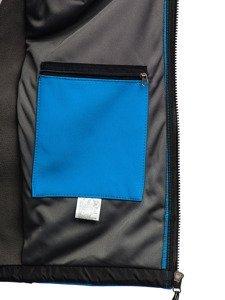 Kurtka męska softshell jasnoniebieska Denley T019
