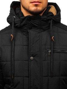 Kurtka męska zimowa czarna Denley 1672