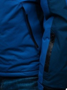 Kurtka męska zimowa narciarska niebieska Denley HZ8112