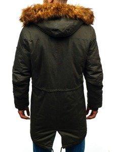 Kurtka męska zimowa parka khaki Denley R107