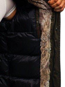 Kurtka męska zimowa parka zielona Denley 1016