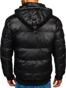 Kurtka męska zimowa pikowana czarna Denley 5839