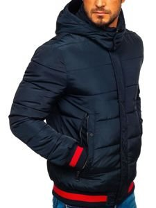 Kurtka męska zimowa sportowa granatowa Denley JK393
