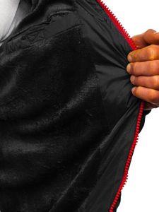 Kurtka męska zimowa sportowa pikowana czarna Denley 50A156