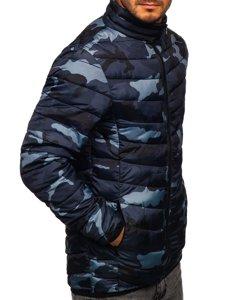 Kurtka męska zimowa sportowa pikowana moro-grafitowa Denley SM32