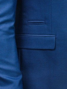 Marynarka męska elegancka jasnoniebieska Denley 1050