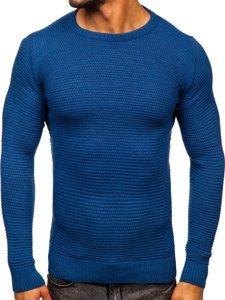 Niebieski sweter męski Denley 4604